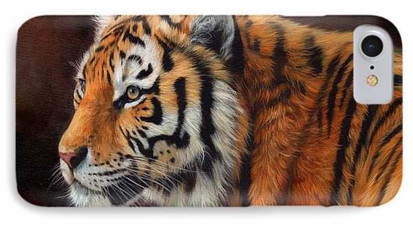 Tiger Portrait  Phone Case by David Stribbling