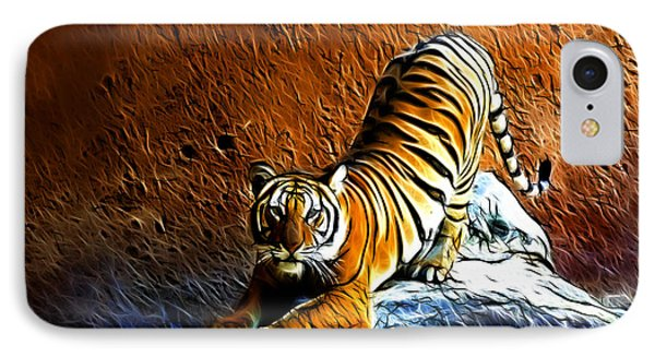 Tiger Pounce -  Fractal - S IPhone Case