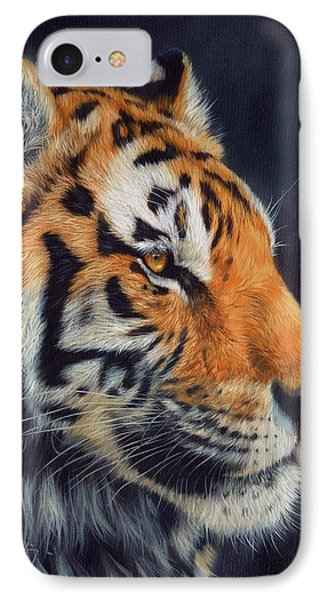 Tiger Profile Phone Case by David Stribbling
