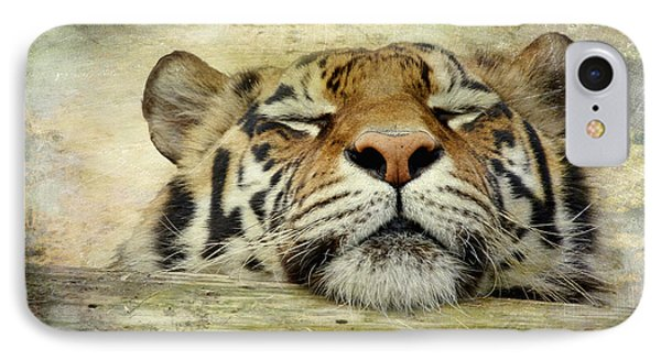 Tiger Snooze IPhone Case by Athena Mckinzie