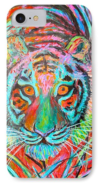 Tiger Stare IPhone Case by Kendall Kessler