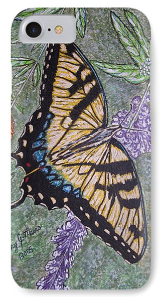 Tiger Swallowtail Butterfly Phone Case by Kathy Marrs Chandler