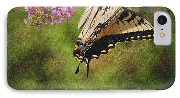 Tiger Swallowtail-featured In Photography And Textures And Harmony-happiness Groups Phone Case by EricaMaxine  Price