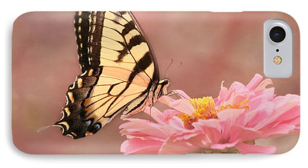 Tiger Swallowtail In The Pink IPhone Case