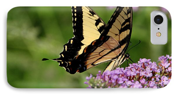 Tiger Swallowtail On Butterfly Bush 2 - Featured In 'comfortable Art' And 'flower W Co' Macro Groups Phone Case by EricaMaxine  Price
