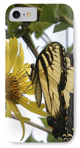 IPhone Case featuring the photograph Tiger Swallowtail by Phyllis Peterson