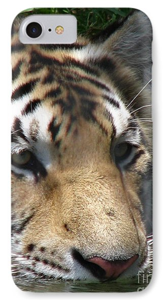 Tiger Water Phone Case by Greg Patzer