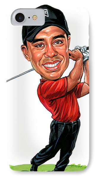 Tiger Woods IPhone Case by Art