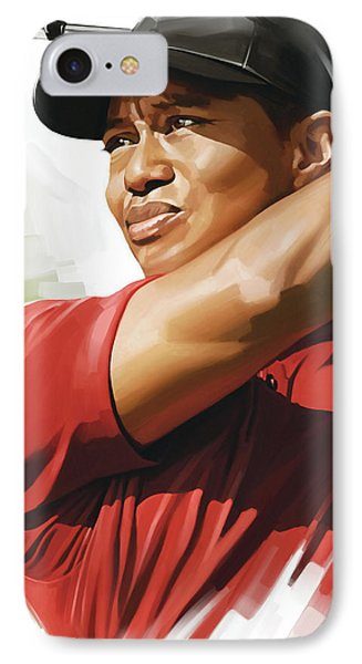 Tiger Woods Artwork IPhone Case by Sheraz A