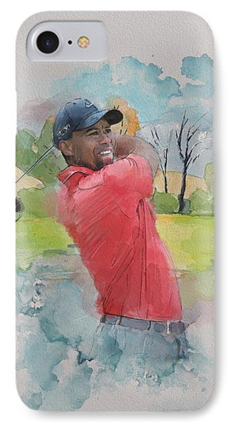 Tiger Woods IPhone Case by Catf