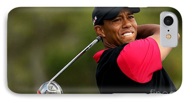Tiger Woods Golf Phone Case by Lanjee Chee