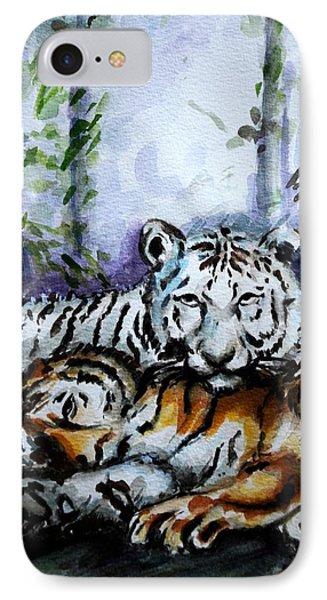 Tigers-mother And Child Phone Case by Harsh Malik