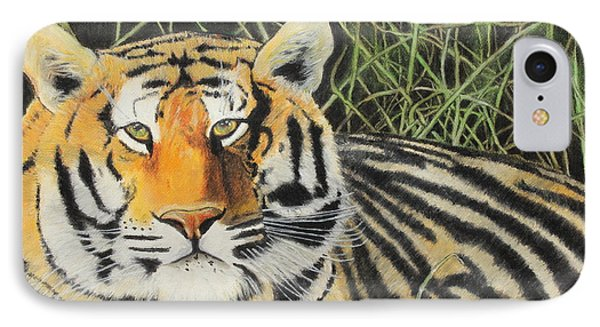 IPhone Case featuring the painting Tigress by Jeanne Fischer