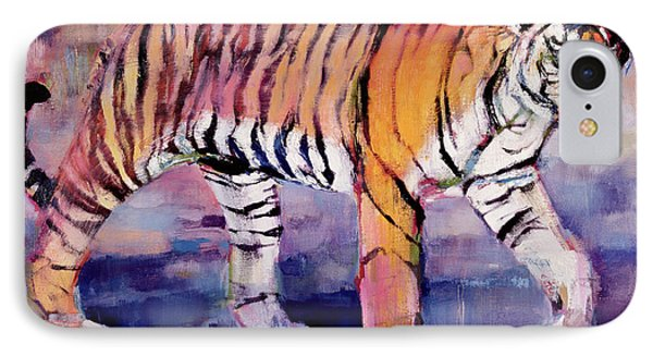 Tigress, Khana, India IPhone Case by Mark Adlington