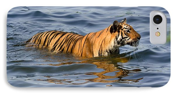 Tigress Of The Lake IPhone Case by Fotosas Photography