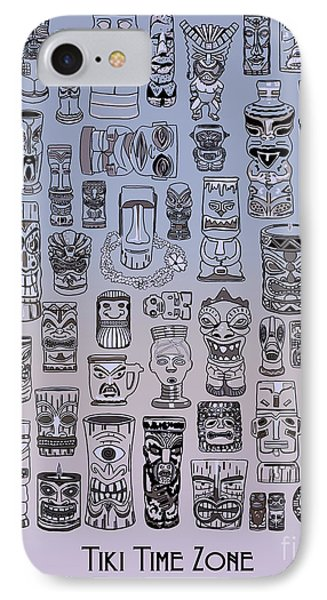 Tiki Cool Zone IPhone Case by Megan Dirsa-DuBois