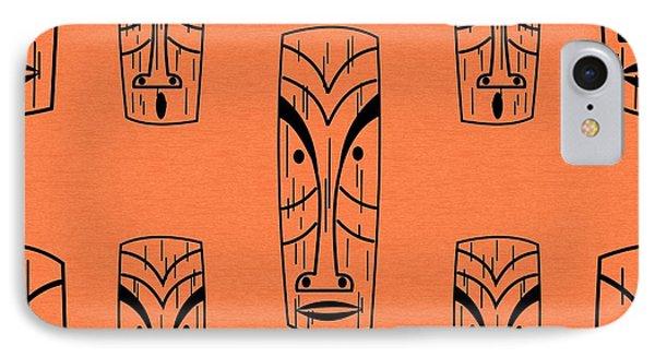 Tiki On Orange Pillow IPhone Case