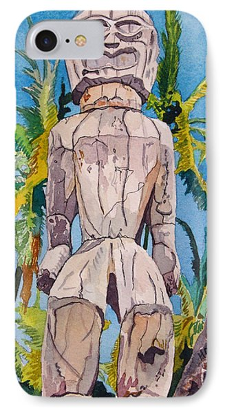 Tiki IPhone Case by Terry Holliday