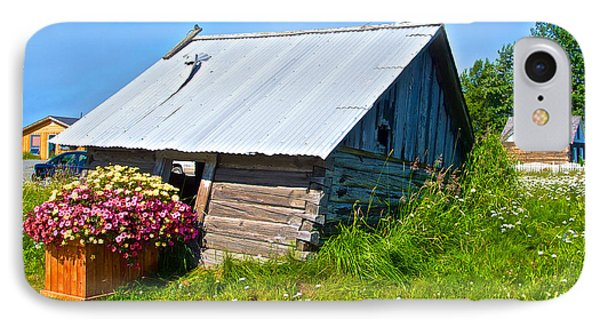 Tilted Shed In Old Town Kenai-ak Phone Case by Ruth Hager