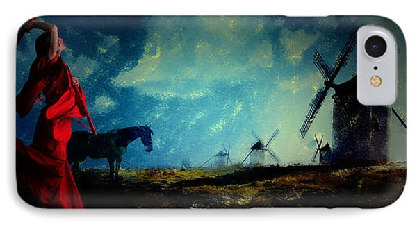 Tilting At Windmills IPhone Case by Galen Valle