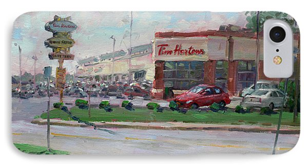 Tim Hortons By Niagara Falls Blvd Where I Have My Coffee IPhone Case by Ylli Haruni