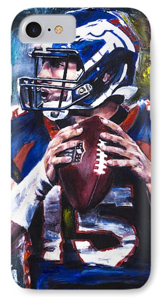 Tim Tebow IPhone Case by Mark Courage