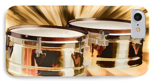 Timbale Drums For Latin Music Painting In Color 3326.02 IPhone Case