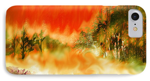 IPhone Case featuring the mixed media Timber Blaze by Seth Weaver