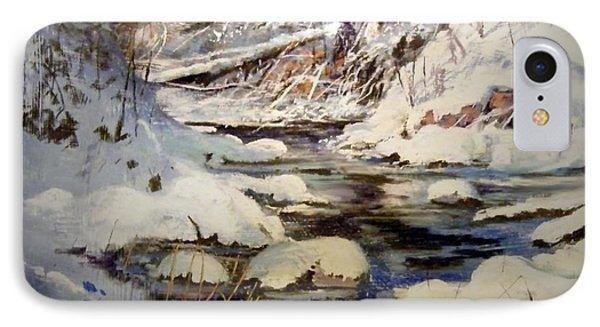 Timber Creek Winter Phone Case by Joseph Barani