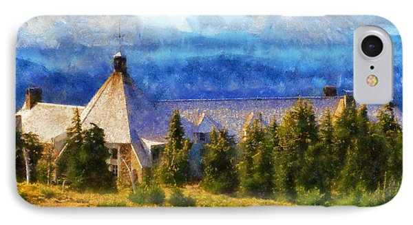 Timberline Lodge IPhone Case by Kaylee Mason
