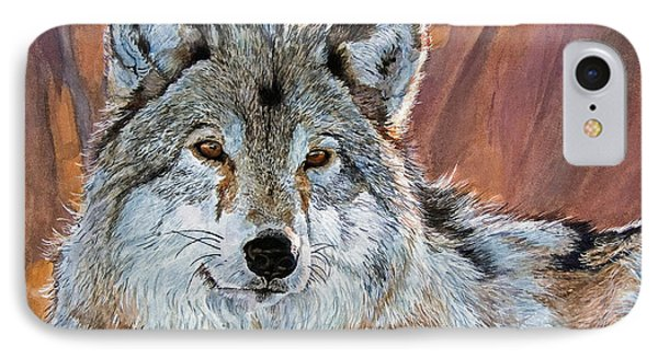 Timber Wolf Phone Case by David Lloyd Glover