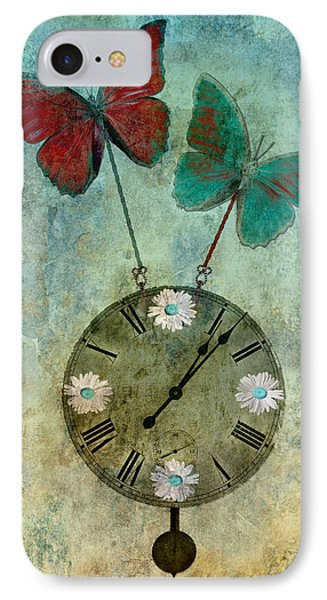 Time Flies Phone Case by Aimelle