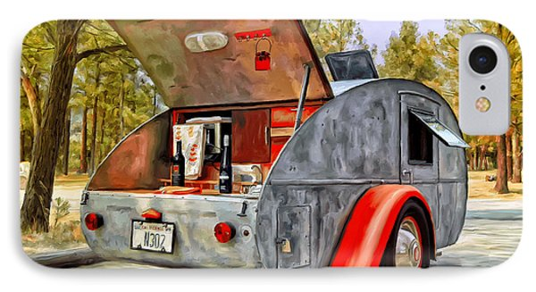 IPhone Case featuring the painting Time For Camping by Michael Pickett