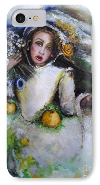 IPhone Case featuring the painting Time by Laurie L