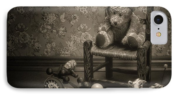 Punishment iPhone 7 Case - Time Out - A Teddy Bear Still Life by Tom Mc Nemar