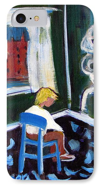 Time Out For De Kooning In A Chair In A Corner IPhone Case by Betty Pieper