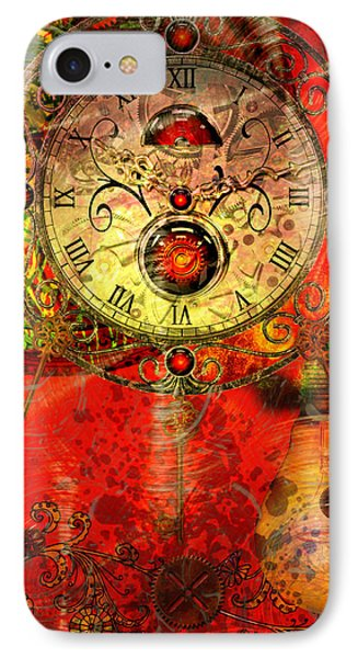 Time Passes IPhone Case by Ally  White