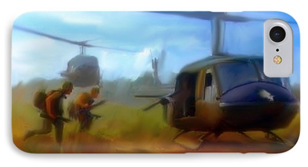 Time Sacrificed II Vietnam Veterans  IPhone Case by Iconic Images Art Gallery David Pucciarelli