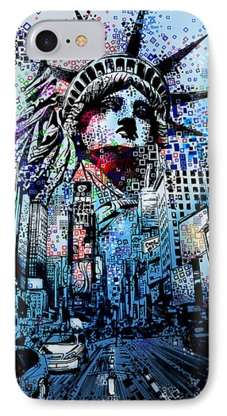 Times Square 2 IPhone Case by Bekim Art