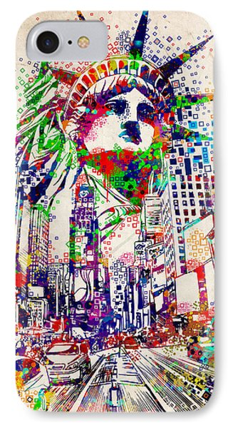 Times Square 3 IPhone Case by Bekim Art