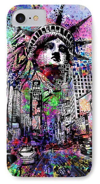 Times Square IPhone Case by Bekim Art