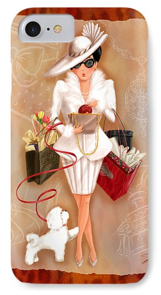 Time To Shop 1 IPhone Case by Shari Warren