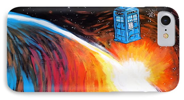 Time Travel Tardis IPhone Case by Jera Sky