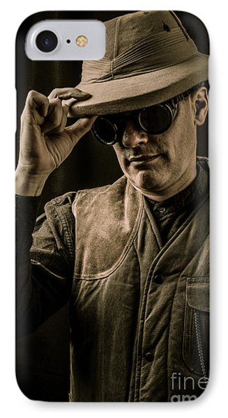 Time Traveler Phone Case by Edward Fielding