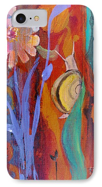 IPhone Case featuring the painting Time Traveler by Robin Maria Pedrero