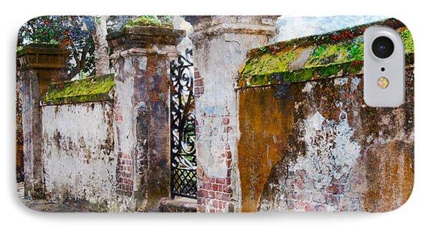 IPhone Case featuring the photograph Brick Wall Charleston South Carolina by Vizual Studio