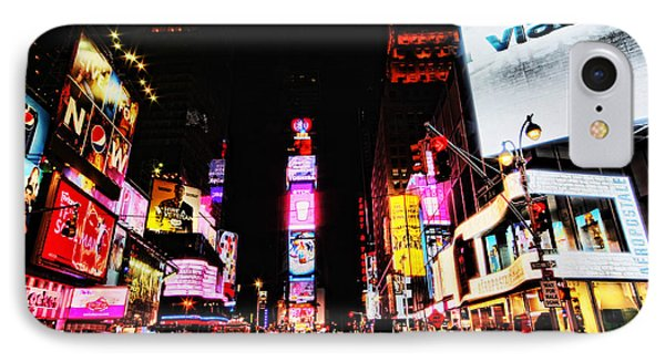 Times Square Phone Case by Andrew Paranavitana