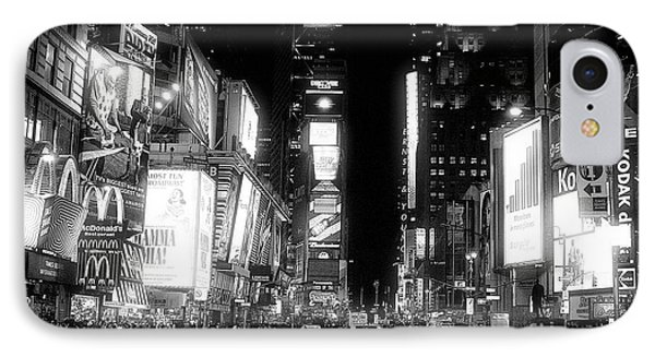 Times Square At Night Phone Case by John Rizzuto