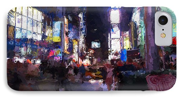 Times Square By Night Phone Case by Steve K