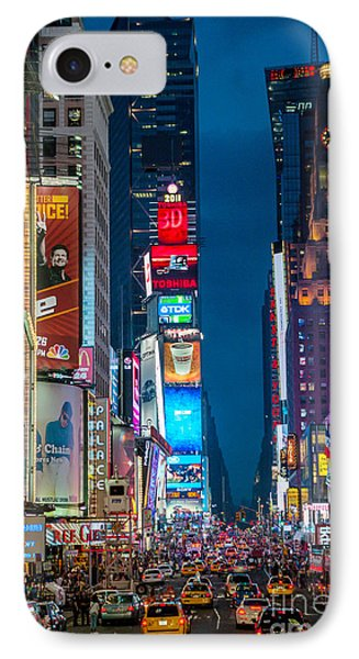 Times Square I IPhone Case by Ray Warren
